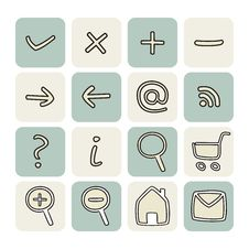 Free Doodle Hand Drawn Vector Icons Set Royalty Free Stock Photography - 27352227
