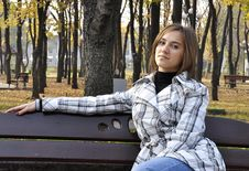 Free A Girl Is In A Park Stock Photo - 27355140