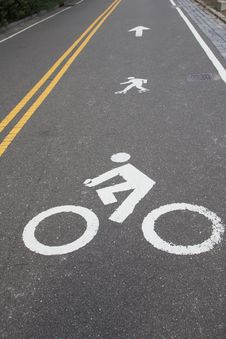 Free Signs For Bike And Rollerblades Line Royalty Free Stock Photos - 27355358