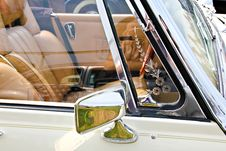 Classic Car Mirror Stock Photo