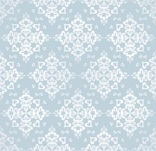 Free Seamless Snowflakes Vector Pattern Stock Photography - 27355822
