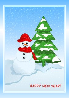 Free Winter Greeting Cad Royalty Free Stock Photos - 27357038