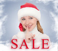 Free Christmas Sale And Happy Young Woman Stock Images - 27361364