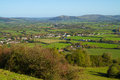 Free View From Brent Knoll Towards Crook Peak Somerset Royalty Free Stock Photo - 27363245