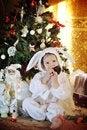 Free Boy And A Christmas Tree Stock Photos - 27365333