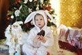 Free Boy And A Christmas Tree Stock Photo - 27365360