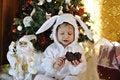 Free Boy And A Christmas Tree Stock Image - 27365421