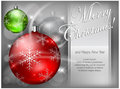 Free Christmas Color Baubles With Snowflake & Text Stock Photography - 27365682
