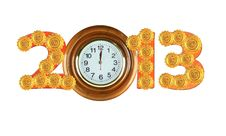 Happy New Years 2013 &x28;Include Clipping Paths&x29; Royalty Free Stock Photos
