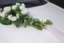Free Wedding Car Decoration Royalty Free Stock Images - 27362539