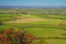 Free View From Brent Knoll Somerset Towards The Coast Royalty Free Stock Images - 27363169