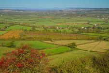Free View From Brent Knoll Towards Weston-super-Mare Royalty Free Stock Image - 27363186