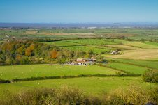 Free View From Brent Knoll Towards Flat Holm Royalty Free Stock Photos - 27363228
