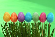 Free Easter Decoration With Easter Eggs. Stock Photo - 27363580