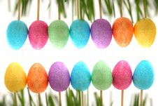 Free Easter Decoration With Easter Eggs. Royalty Free Stock Images - 27363609