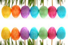 Free Easter Decoration With Easter Eggs. Stock Photos - 27363643