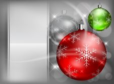Free Christmas Color Baubles With Snowflake Royalty Free Stock Images - 27365689