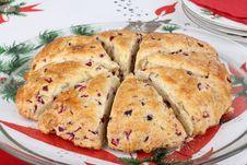 Free Christmas Cranberry Scone Royalty Free Stock Photo - 27366275