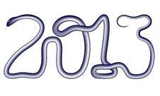 Free 2013 Snake Inscription Royalty Free Stock Image - 27367656