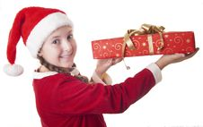Free Look How Big Is My Christmas Present! Stock Photos - 27367803