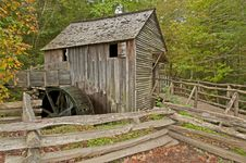 Free Old Grist Mill In The Fall. Royalty Free Stock Image - 27368106