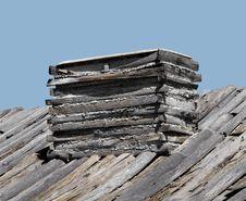 Free Wood And Log Fireplace Chimney. Stock Photo - 27369010
