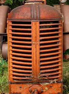 Free Old Farm Tractor Engine Grill. Royalty Free Stock Images - 27369039