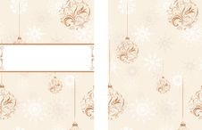 Free Background With Snowflakes And Christmas Balls Royalty Free Stock Photos - 27369238