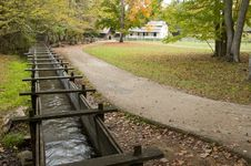 Free A Water Trough Leads To An Old Grist Mill. Royalty Free Stock Photography - 27369457