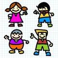 Free Kids Hand Writing Cartoon . Stock Image - 27371811
