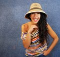 Free Portrait Of A Latin Woman With Shirt Colors Royalty Free Stock Photography - 27373527