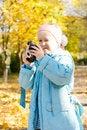Free Aspiring Young Girl Photographer Stock Image - 27376751
