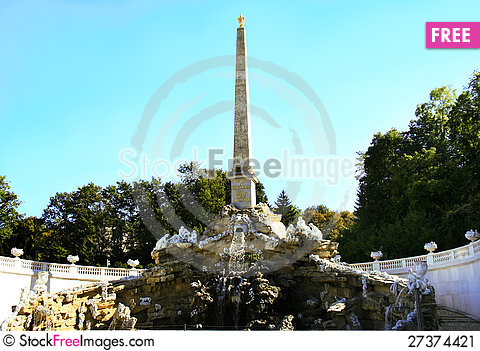Free Obelisk Imperial Fountain Schonbrunn Stock Image - 27374421