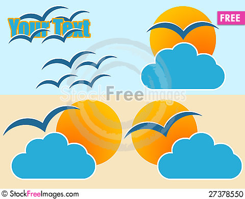 Free Sun And Cloud Logo Stock Photo - 27378550