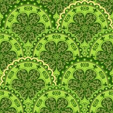 Green-yellow Vintage Seamless Pattern Royalty Free Stock Photo