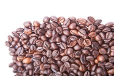 Free Heap Of Coffee Beans.  On White Stock Photo - 27371300