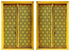 Free Two Golden Windows. Royalty Free Stock Image - 27371326