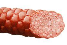 Free Sausage On A White Background Stock Photo - 27371440
