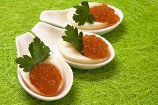 Eggs With Caviar Royalty Free Stock Photos