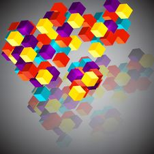 Abstract Background With 3d Cubes. Royalty Free Stock Photos