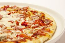 Pizza With Bacon And Cheese Royalty Free Stock Photography