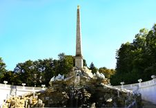 Obelisk Imperial Fountain Schonbrunn Stock Image