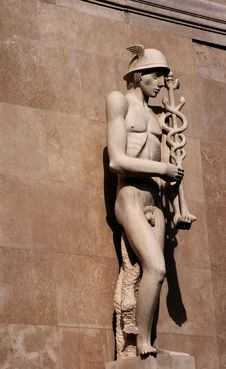 Hermes - The Messenger Of Gods Stock Photo