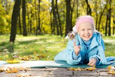 Free Laughing Little Girl Pointing At The Camera Royalty Free Stock Image - 27374666