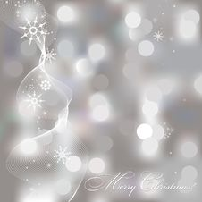 Free Abstract Christmas Background With Snowflakes Royalty Free Stock Images - 27374769
