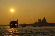 Free Venice - Sunset In The Lagoon Royalty Free Stock Images - 27374779