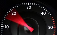 Free Diesel Tachometer In Action Royalty Free Stock Photo - 27374785