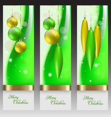Free Christmas Banners With Embellishment Royalty Free Stock Images - 27379589