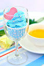 Free Blue Cup Cake Stock Photos - 27381243