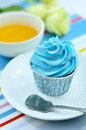 Free Blue Cup Cake Stock Photography - 27381312